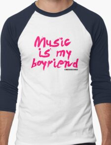 Music Is My Boyfriend Men's Baseball ¾ T-Shirt