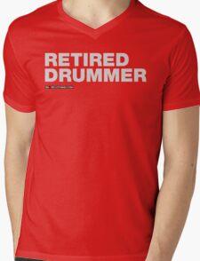 Retired Drummer Mens V-Neck T-Shirt