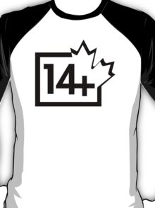 TV 14+ (Canada) black T-Shirt