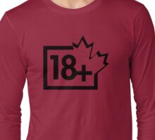 TV 18+ (Canada) black Long Sleeve T-Shirt