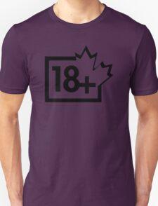 TV 18+ (Canada) black T-Shirt