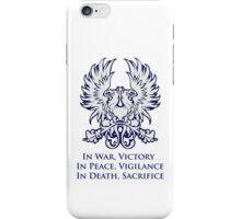 In War, Victory (blue) iPhone Case/Skin