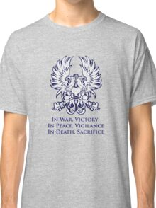 In War, Victory (blue) Classic T-Shirt