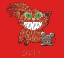 Cat and Mouse - SMILE T-shirt One Piece - Short Sleeve