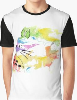 rainbow painting totoro Graphic T-Shirt