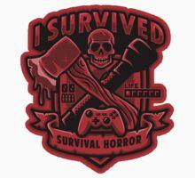 Survival Horror Crest (Sticker) by Brandon Wilhelm