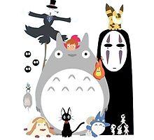 Studio Ghibli Gang by DinaPurifoy
