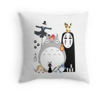 Studio Ghibli Gang Throw Pillow