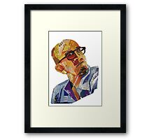 Cardboard portrait of Eric Framed Print