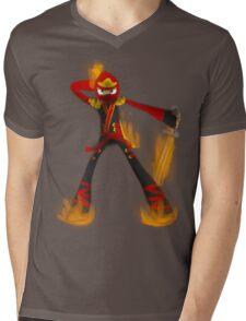 Flaming Kai Mens V-Neck T-Shirt