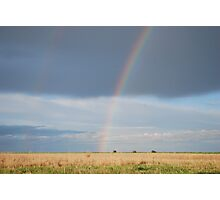 Double Rainbow on Kansas Prairie Photographic Print