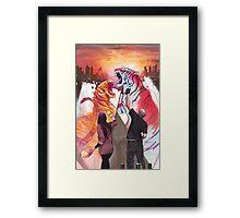 Dueling Tigers Framed Print