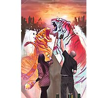 Dueling Tigers Photographic Print