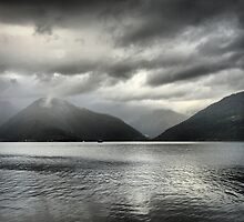 Grey Over the Sognefjord  ( 1 ) by Larry Lingard-Davis
