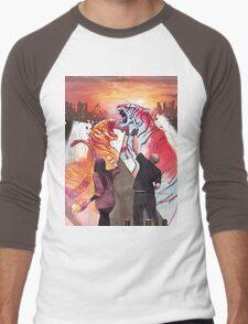 Dueling Tigers Men's Baseball ¾ T-Shirt