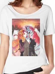 Dueling Tigers Women's Relaxed Fit T-Shirt