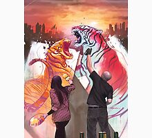 Dueling Tigers Unisex T-Shirt