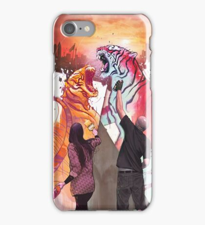 Dueling Tigers iPhone Case/Skin