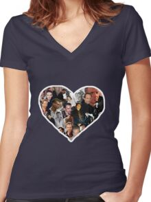 A Fiennes Collage Women's Fitted V-Neck T-Shirt