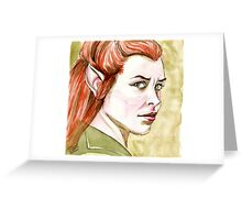 Evangeline Lilly as Tauriel Greeting Card
