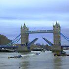The opening of Tower Bridge London by Arvind Singh