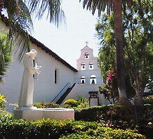Mission San Diego Courtyard by Gordon  Beck