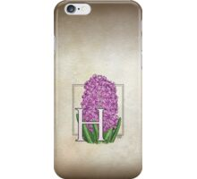 H is for Hyacinth - full image iPhone Case/Skin