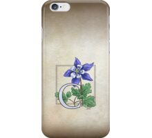 C is for Columbine iPhone Case/Skin
