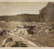 Vintage Lake Superior Shoreline by Phil Perkins