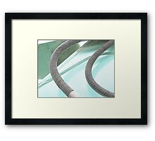 Pastel Blue Shadows Framed Print