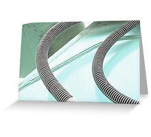 Pastel Blue Shadows Greeting Card
