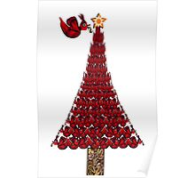 rED BirD OF pEACE cHRISTMAS tREE Poster