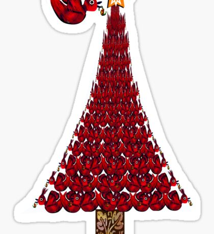 rED BirD OF pEACE cHRISTMAS tREE Sticker