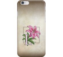 L is for Lily iPhone Case/Skin