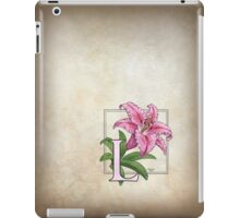 L is for Lily - full image shirt iPad Case/Skin