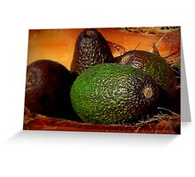 Still Life With Avocados Greeting Card