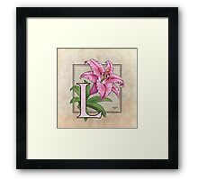 L is for Lily - full image shirt Framed Print