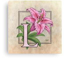 L is for Lily - full image shirt Canvas Print
