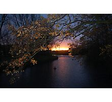 Sunset River Photographic Print