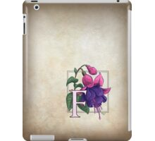 F is for Fuchsia - full image shirt iPad Case/Skin