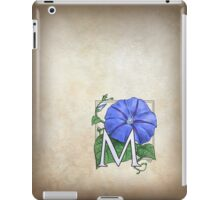M is for Morning Glory - full image shirt iPad Case/Skin