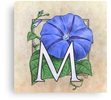 M is for Morning Glory - full image shirt Canvas Print
