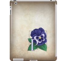 P is for Pansy iPad Case/Skin