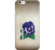P is for Pansy card iPhone Case/Skin