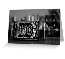 Jack Daniels Greeting Card