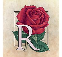 R is for Rose - full  Photographic Print
