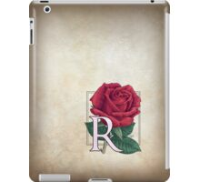 R is for Rose - patch iPad Case/Skin