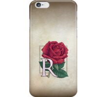 R is for Rose - patch iPhone Case/Skin