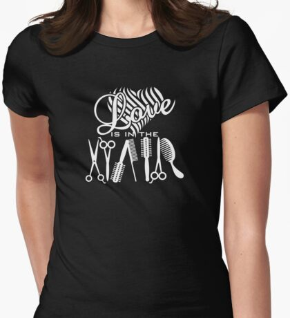 Love is in the Hair VRS2 Womens Fitted T-Shirt