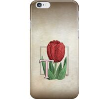 T is for Tulip - full image iPhone Case/Skin